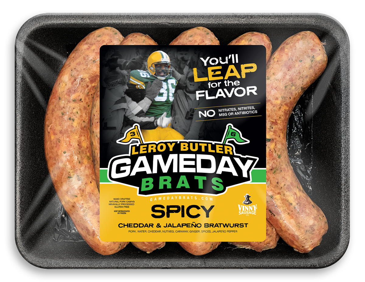 LeRoy Butler Spicy Game Day Brats